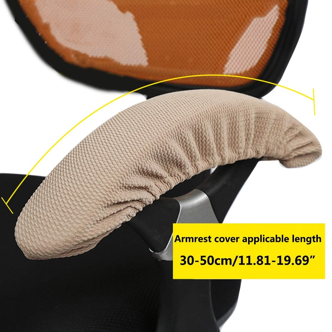 2 Piezas Gris Xianheng Fundas Cubiertas del Apoyabrazos El/ásticas Protectores para Ordenador de Cubiertas de la Silla Oficina Suave Ajustable C/ómodo