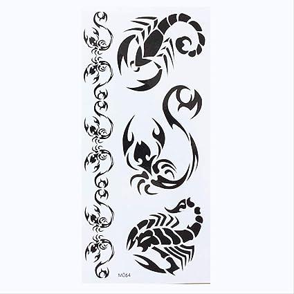 ZQHY Etiqueta Engomada 1 Hoja Temporal Inglés Palabra Tatuaje ...