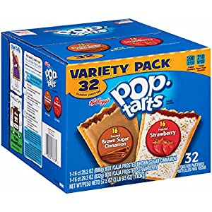 Pop-Tarts Variety Frosted Strawberry and Brown Sugar Cinnamon, 57.50 Ounce