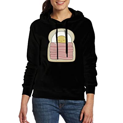 Egg1 Women Hoodies Print Cotton Long Sleeve Sweaters With Pocket