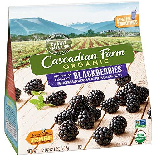 Cascadian Farm Organic Blackberries, 32oz Resealable Bag (Frozen), Organically Farmed Frozen Fruit, Non-GMO ()