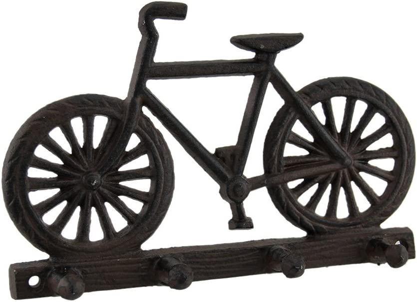 Cast Iron Bicycle Themed Hook Rack