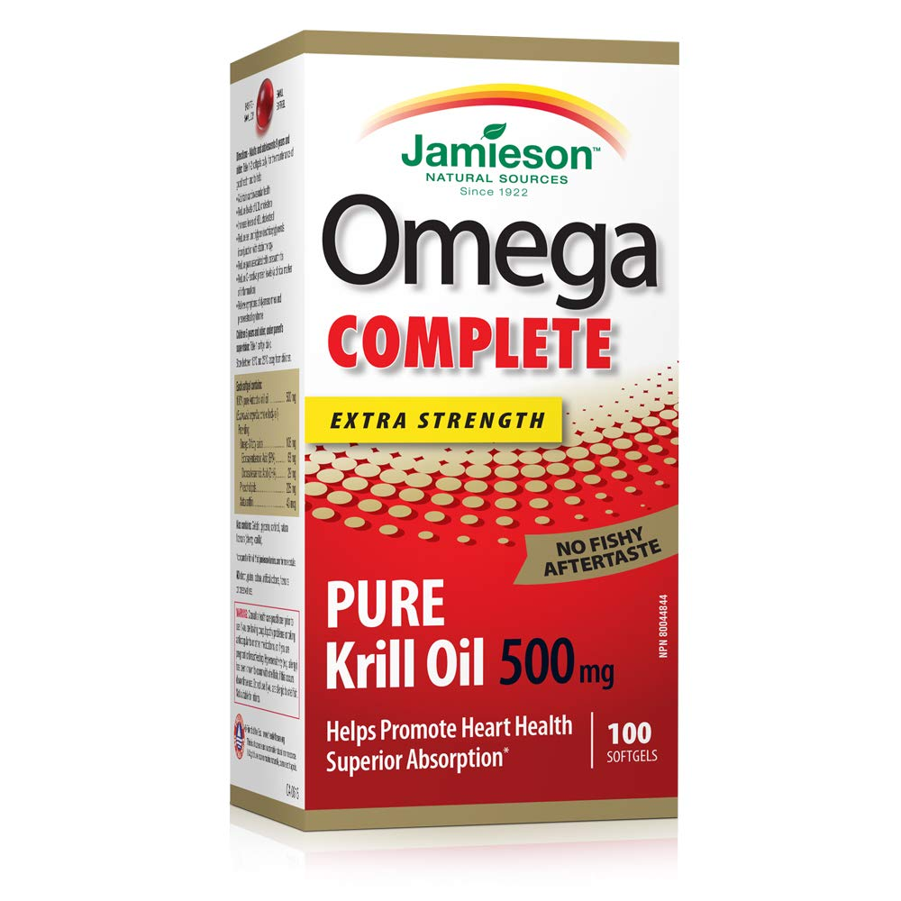 Jamieson OmegaCOMPLETE Super Krill 500mg, 100 softgels by Jamieson