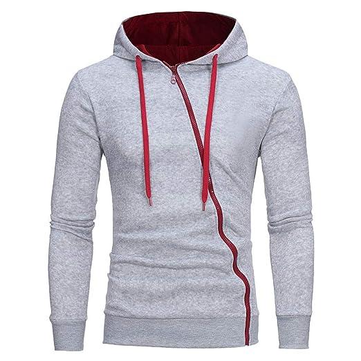 012374d8b Rambling New Mens Warm Slim Fit Long Sleeve Zip-up Hoodie Sweatshirt Tops  at Amazon Men's Clothing store: