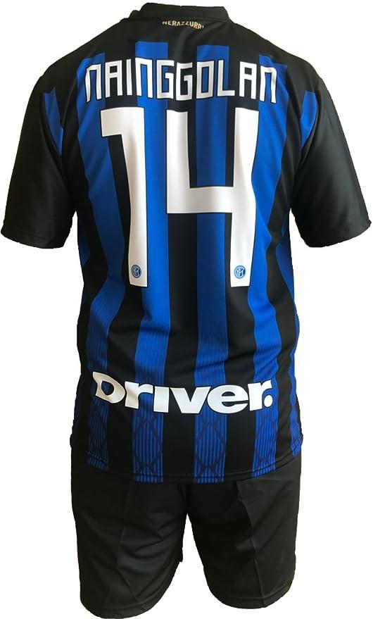 Conjunto Equipacion Camiseta Pantalones Futbol Inter F.C. Radja Nainggolan Replica Oficial Autorizado 2018-2019 Niños
