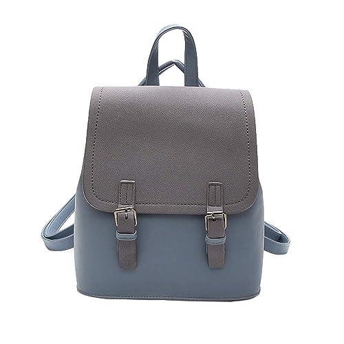 8a97c13294e1e Ansenesna Rucksäcke Für Mädchen Teenager Schule Leder Soft Elegant Taschen  Outdoor Reise Freizeit Vintage Backpack (
