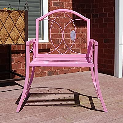 "GCD-Austram Patio Arm Chair, 30-Inch, Pink - Heavy Gauge Powder Coated Steel Treated with Rust Inhibitors Chair Measures: 30""W x 19' D x 35"" W - patio-furniture, patio-chairs, patio - 61ygpjyqOUL. SS400  -"