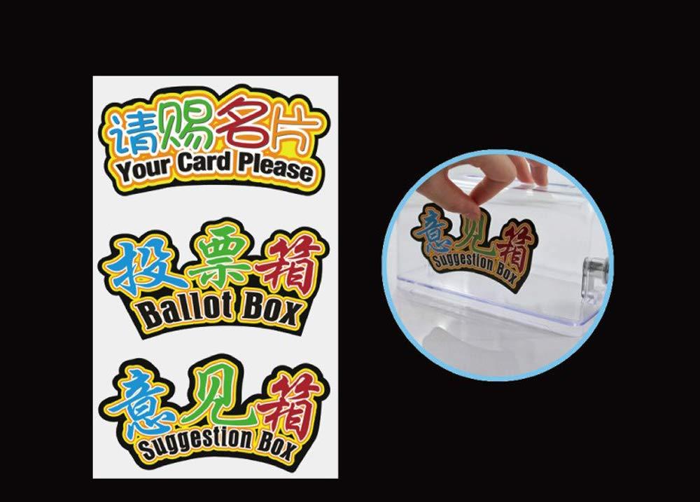 Box di donazione acrilico,eventi sportivi,votazioni,beneficienza,donazioni,lotterie,concorsi,suggerimenti,suggerimenti,opinioni,opinioni e tag sostituibili4