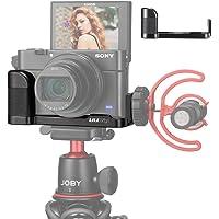 UURig R017 C-RX100 VII Camera Microphone Extension Bottom Bracket for Sony RX100 VII/ RX100 VI/ RX100 V (Sony M4 M5 M6 M7) Vlog Camera Accessories, Comfortable Handle Grip