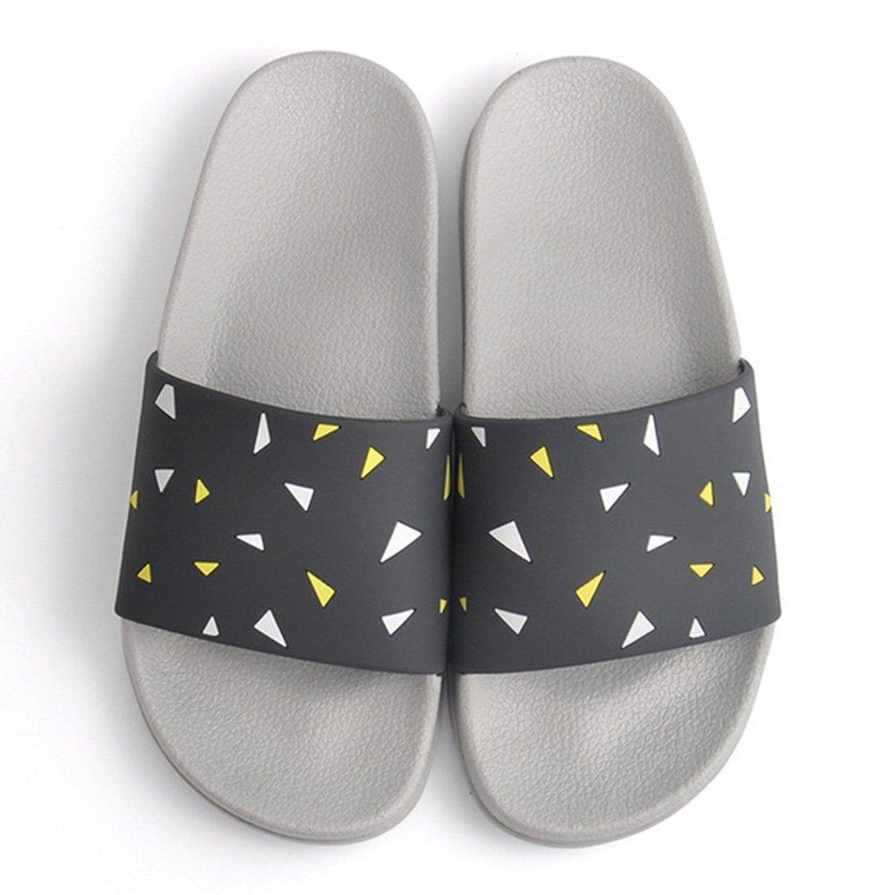 Verano Sandalias Zapatillas de baño deslizadizas interiores femeninas del verano Baño casero suave del hogar con las zapatillas Zapatillas frescas caseras del par Zapatillas de casa (2 colores opcionales) (tamaño opcional) Color / tama