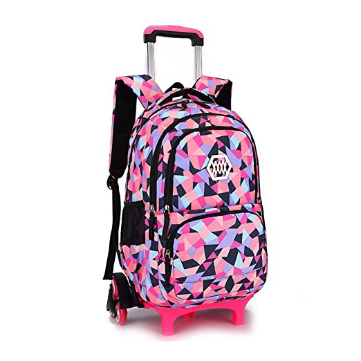 f0d8d50c7ba9 YUB New School Bag Girls  Backpack Wheeled Schoolbag Rolling Backpacks  Waterproof