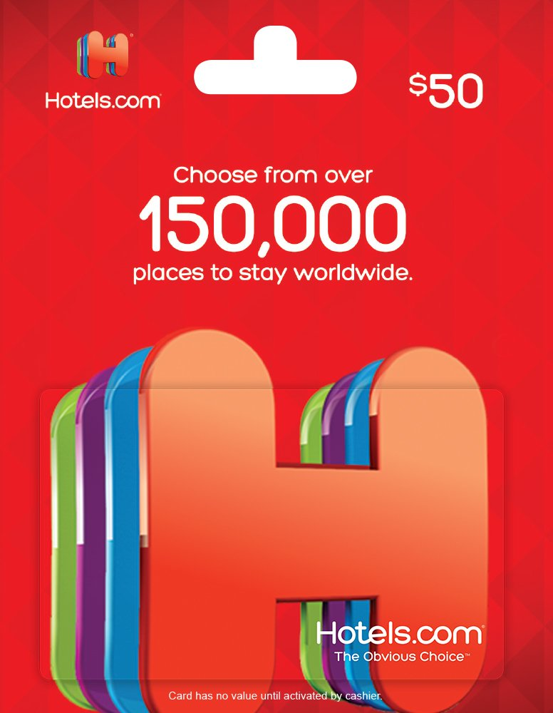 amazoncom hotelscom gift card 50 gift cards - Christmas Gift Card Deals