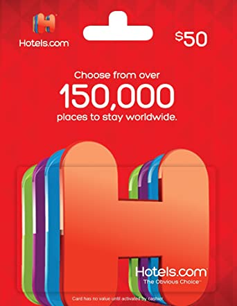 hotelscom gift card 50 - Gift Card Places