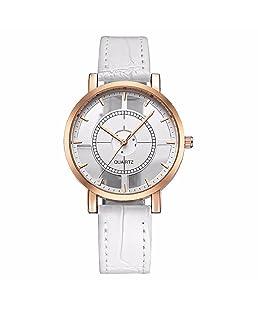 Unisex Casual Watch,Hosamtel Women Men Personality Analog Unique Hollow Quartz Wrist Watch A84 (White)