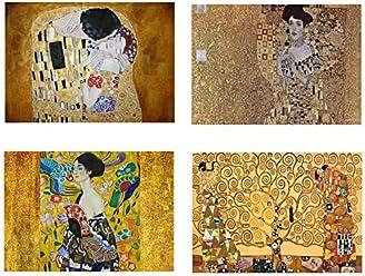 4 Placemats plastic Gustav Klimt