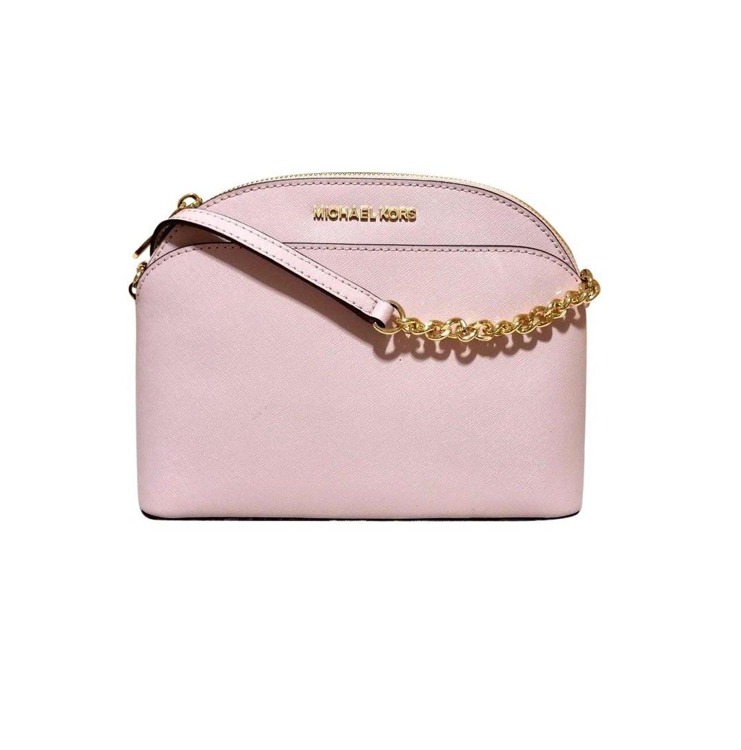 MICHAEL Michael Kors Emmy Medium Crossbody Leather Handbag (Blossom)