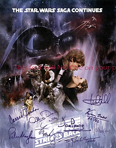 Star Wars Episode V - The Empire Strikes Back Autographed 8x10 Glossy Photo