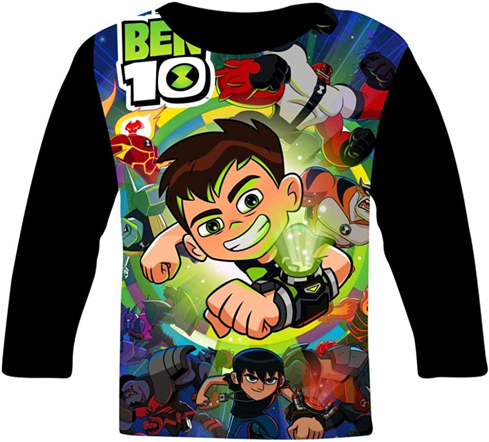 VSHFGC Kid//Youth Be-N 10 T-Shirts 3D Long Sleeve Tees for Girls Boys