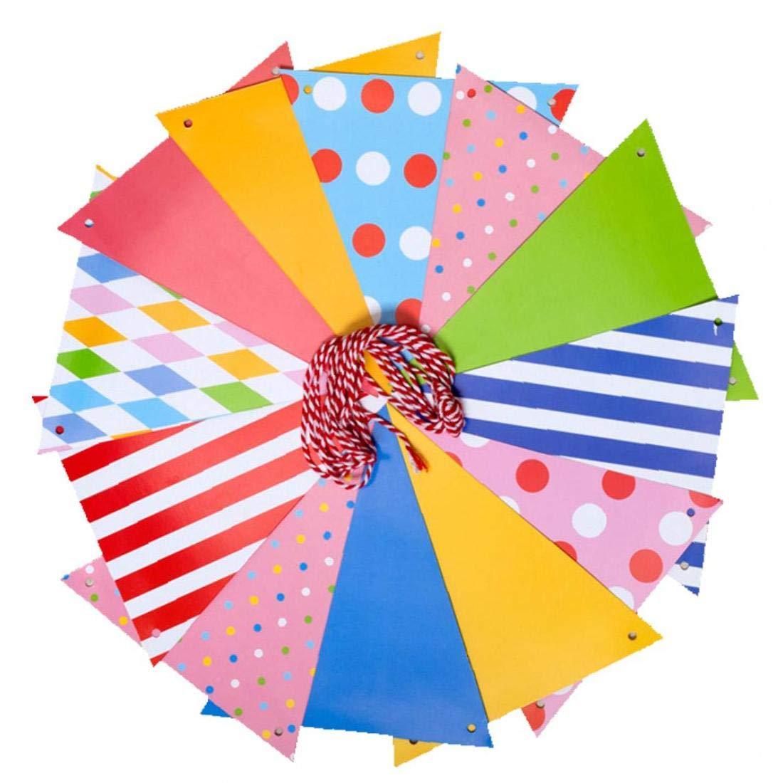 Papel de Troya Patr/ón Bunting Banner bander/ín de la Bandera Que cuelga Apoyo de la Foto del Partido de Las guirnaldas de cumplea/ños Decoraci/ón Decoraci/ón Art/ículos de Fiesta