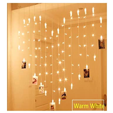 LED Lichterkette Zum Aufhängen Von Fotos, Bildern Notizen Herz Herzform  Steckdose Warmes Weiß 1,