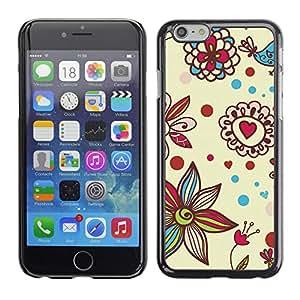 For Apple iPhone 6(4.7 inches) Case , Petal Bloom Hearts Valentines - Diseño Patrón Teléfono Caso Cubierta Case Bumper Duro Protección Case Cover Funda