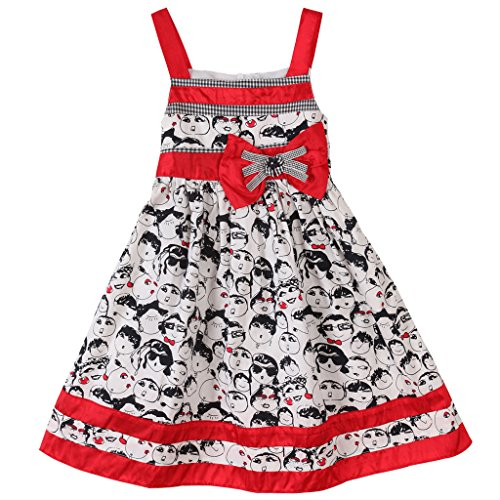 Bonny Billy Little Girl's Figures Printed Casual Summer Braces Dress 10-11 Years