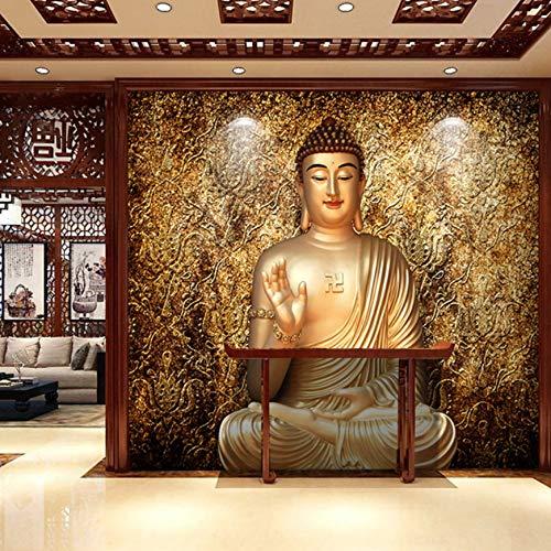 luludsoo Große 5D Dunhuang Figur Buddha Tempel Religion Wandbild Tapete Für Wohnzimmer Hintergrund 3D Wand Fototapeten Wandpapier 274 cm (W) X254 cm (H)