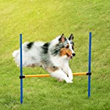 Anself Outdoor Dog Agility Training Equipment Jump Hurdle Bar Activity Agility Exercise Pole Set with Carrying Case