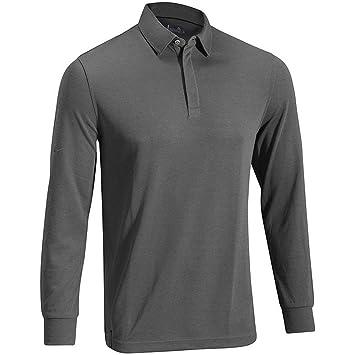 e38581a3e 2015 Mizuno Breath Thermo Mens Winter BaseLayer-Longsleeve Golf Polo Shirt  Ink Blue XL