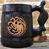 House Targaryen Mug, Fire and Blood, Game of Thrones Gift, GoT, Game of Thrones Inspired Gift, Beer Stein