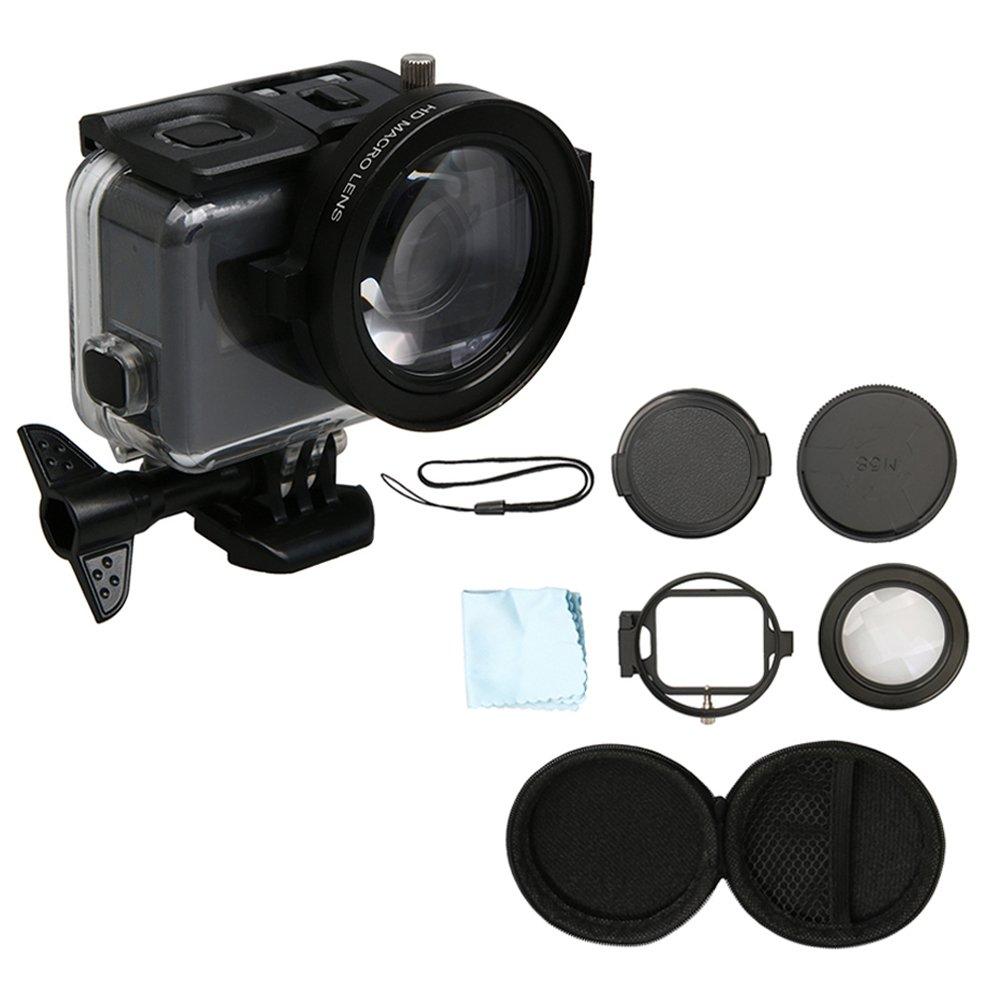 Meijunter 58mm Macro Lens 16X Magnification for GoPro Hero 6/Hero 5 Black Camera Housing Case, HD Close-Up Macro Filter Lens 16X Magnification + Adapter Ring Set Accessories Meijunter Electronics Co. Ltd.