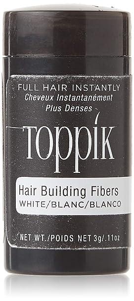 Toppik Fibras Capilares Blanco, Fibras de Queratina para Crear más Densidad en el Cabello de Forma Inmediata, 3 g: Amazon.es