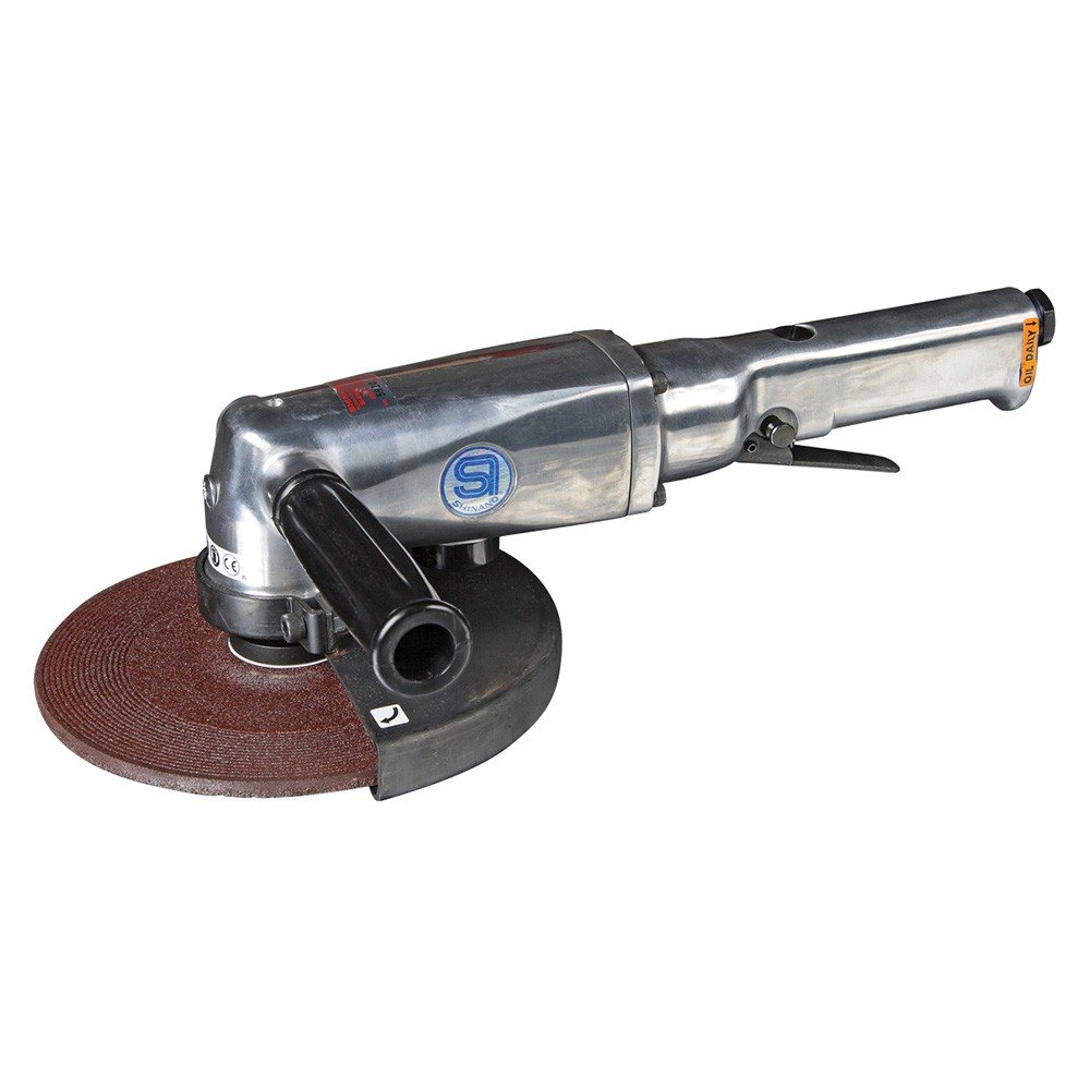 SHINANO SI-2600L 178MM GOVERNED PNEUMATIC (AIR) ANGLE GRINDER 7000RPM LEVER THROTTLE