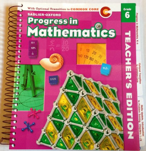 Progress in Math Grade 6 Teacher's Edition - With Optional Transition to Common Core