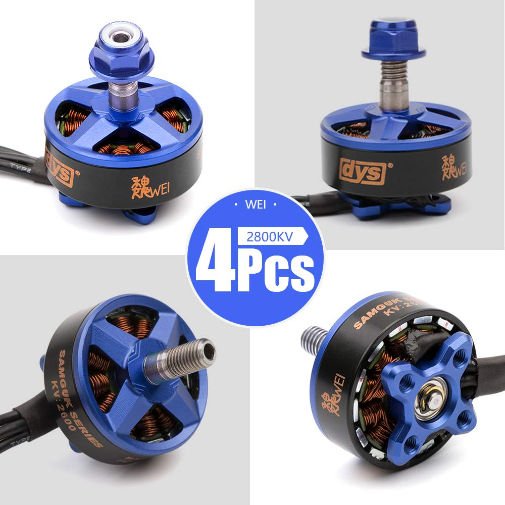 4PCS DYS Sumguk Series Motor is on The Background of Chinese History, Sumguk Motor with Their own Culture and Characteristic for FPV Racing Frame Multirotor Quadcopter WEI (2800KV)