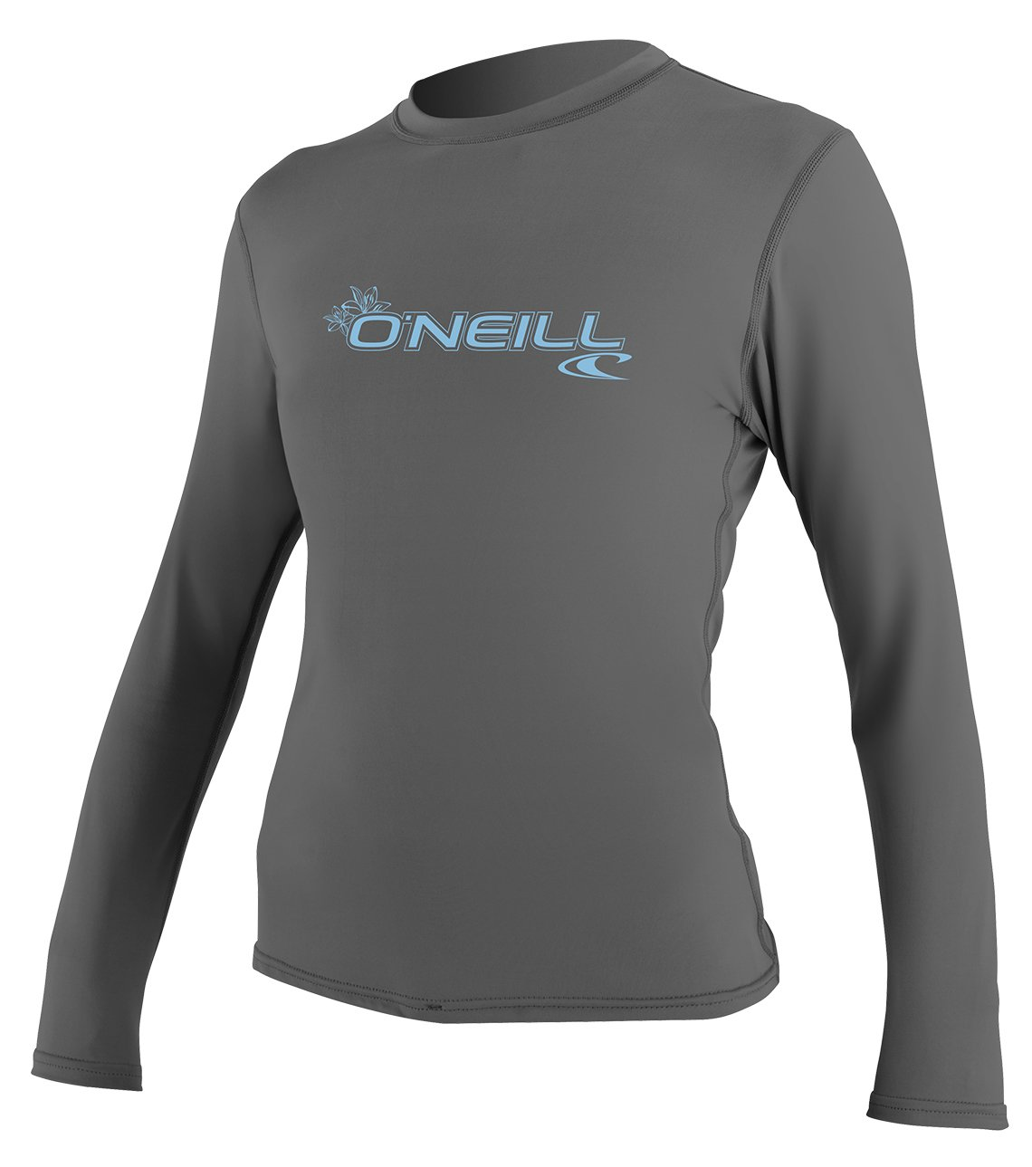 O'Neill Women's Basic Skins Upf 50+ Long Sleeve Sun Shirt, Graphite, Large by O'Neill Wetsuits