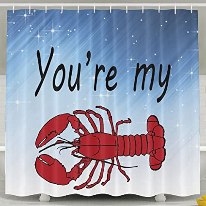 Amazon HUANGLING Youre My Lobster Shower Curtain 60x72inch