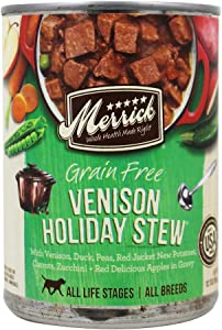 Merrick Grain-Free Venison Holiday Stew Canned Dog Food, 12.7-oz, Pack of 12 by Merrick