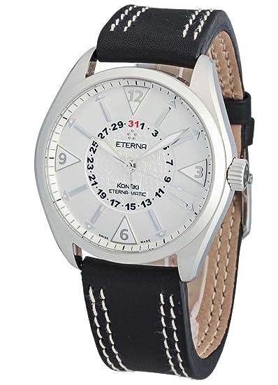 Eterna - Reloj de pulsera hombre kontiki Four - Hands Fecha Analógico Automático 1592.41.11.1116: Amazon.es: Relojes