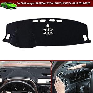 1pcs Black Non-Slip Dash Covers Dash Carpet Dash Mat Dashboard Cover Dashboard Mat Custom Fit for VW Golf 7 / Golf MK7 /Golf R / Golf GTI / Golf GTD / e-Golf 2013 2014 2015 2016 2017 2018 2019 2020
