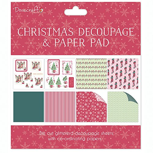 Dovecraft Christmas Decoupage & Paper Pad - Scenes - Card or Scrapbooking Kit DCDPG004X16