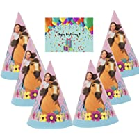 Spirit Riding Free Horse Party Hats - Set of 16 with Birthday Card