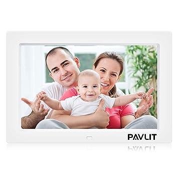 Marco Digital de Fotos, PAVLIT LCD Pantalla de 10 Pulgadas con Alta Resolución, IPS