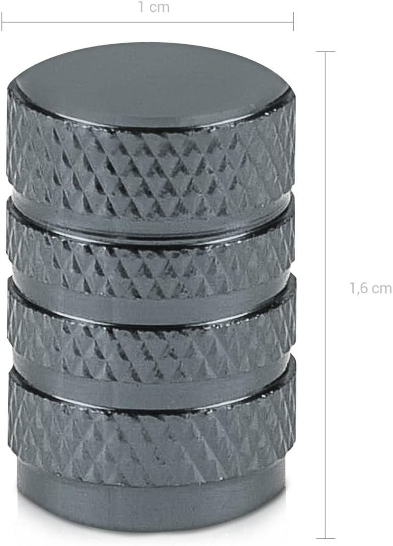 Bike Motorcycle Metal Tire Valve Dust Caps for Car Set of 5 Tire Stem Car Wheel Dustproof Cap kwmobile 5X Valve Cap