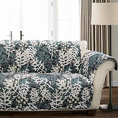 Lush Decor Camouflage Leaves Furniture Protector Loveseat Green