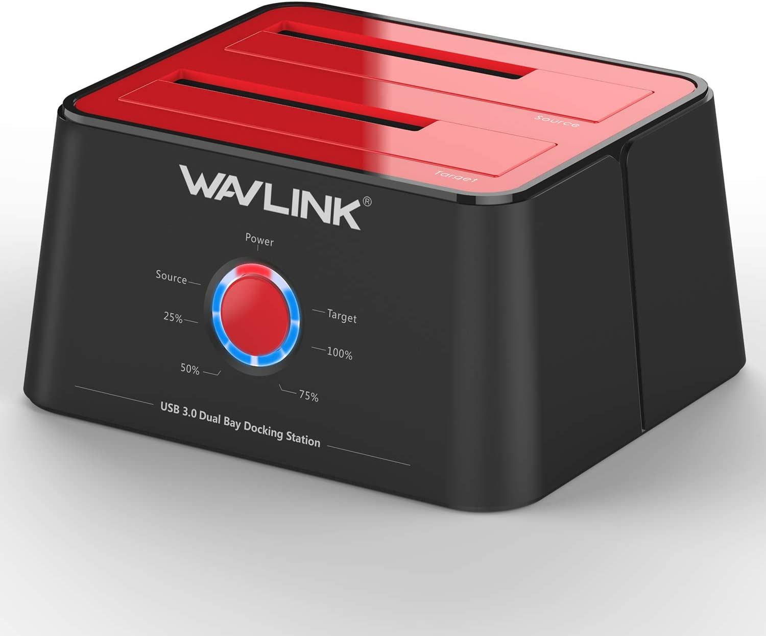 10TB WAVLINK USB 3.0 to SATA External Hard Drive Docking Station with 2USB 3.0 HUB and TF /& SD Card for 2.5 inch//3.5 Inch HDD,SSD Support Backup//UASP Functions