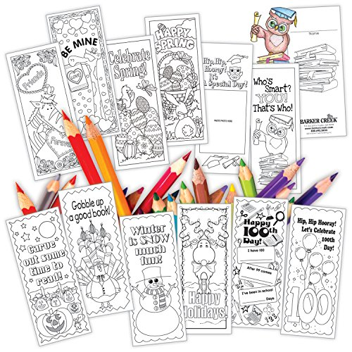 Barker Creek Celebrate The Year Bookmark, Set of
