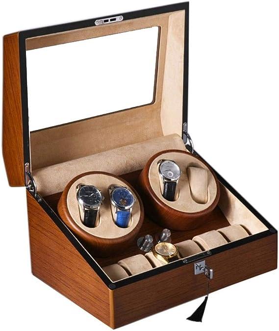 Tourne montre Remontoir automatique Coffret luxe 2 montres 4 programmes noir