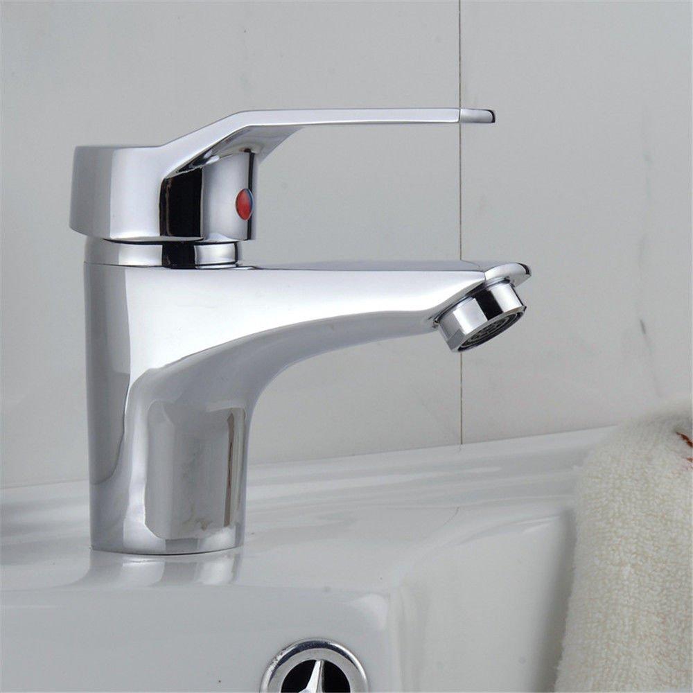 ETERNAL QUALITY Badezimmer Waschbecken Wasserhahn Messing Hahn Waschraum Mischer Mischbatterie Tippen Sie auf Einzelne, Einzelne Bohrung schnell öffnen die vollständige K