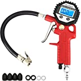 Audew Tire Inflator with Digital Tire Pressure Gauge (0~150 PSI), 3-in-1 Inflation Gun High Accuracy Tire Gauge with LCD Backlit Display